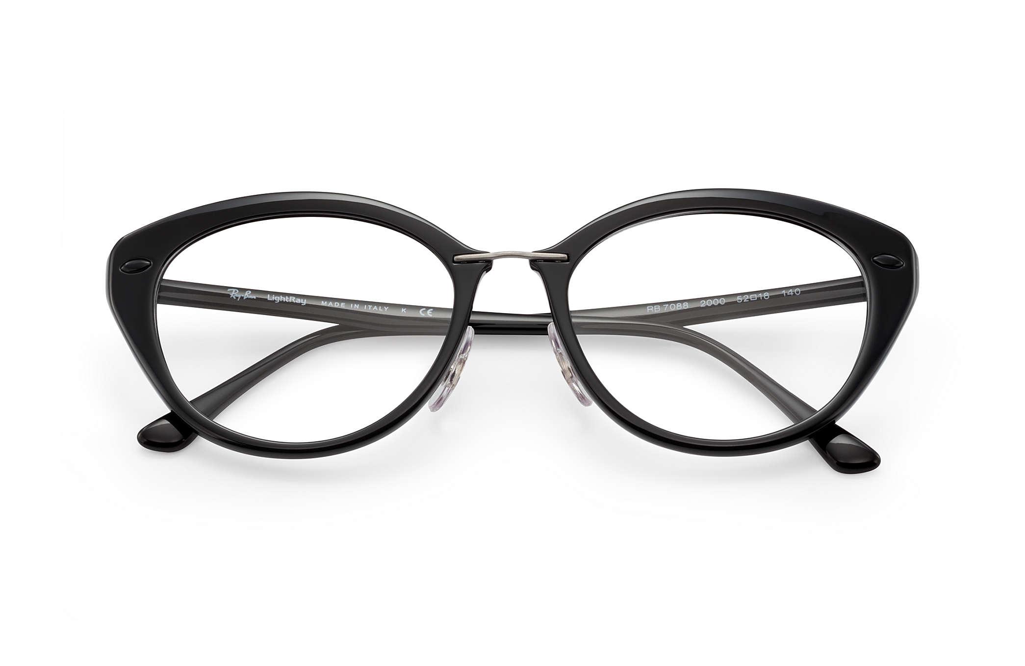 a6e2184ea9 Ray-Ban prescription glasses RB7088 Black - LightRay Titanium ...