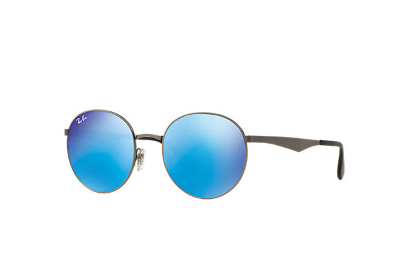 057e8a03bdd1e Ray-Ban RB3537 Gunmetal - Metal - Blue Lenses - 0RB3537004 5551 ...