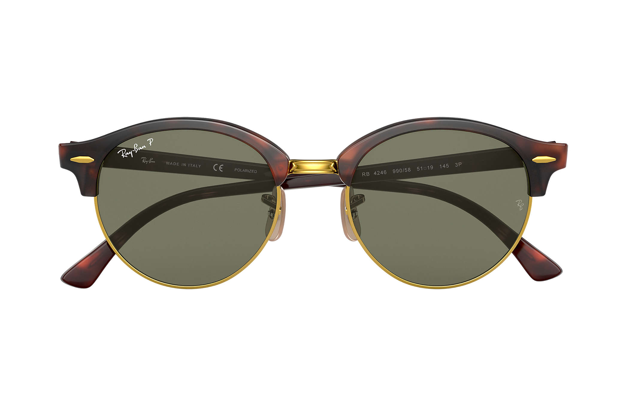 e7573d36c5 Ray-Ban Clubround Classic RB4246 Tortoise - Acetate - Green ...