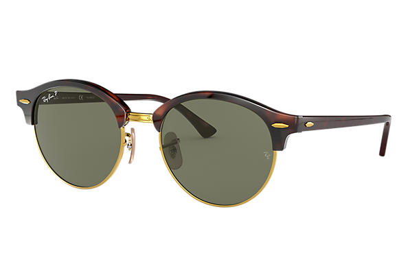 9c09271ea9 Ray-Ban Clubround Classic RB4246 Tortoise - Acetate - Green ...