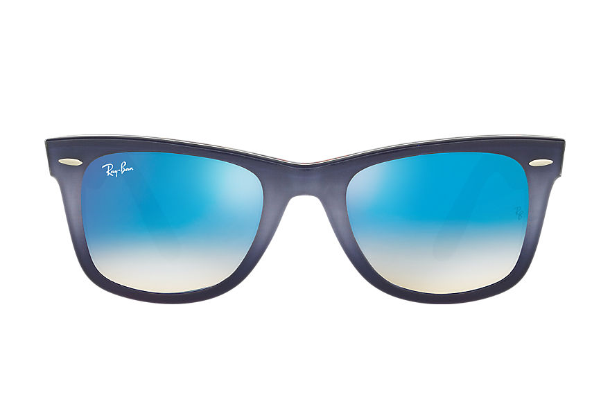 Ray-Ban ORIGINAL WAYFARER FLORAL Grey with Blue Gradient Flash lens