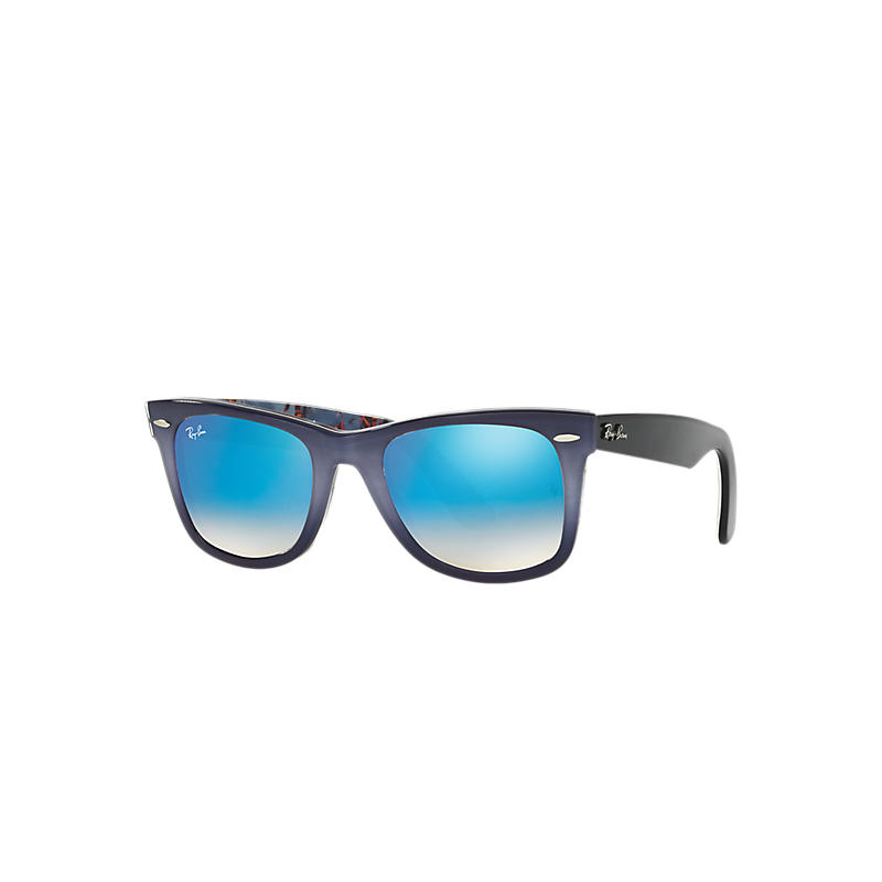Ray-Ban Original Wayfarer Floral Blue Sunglasses, Blue