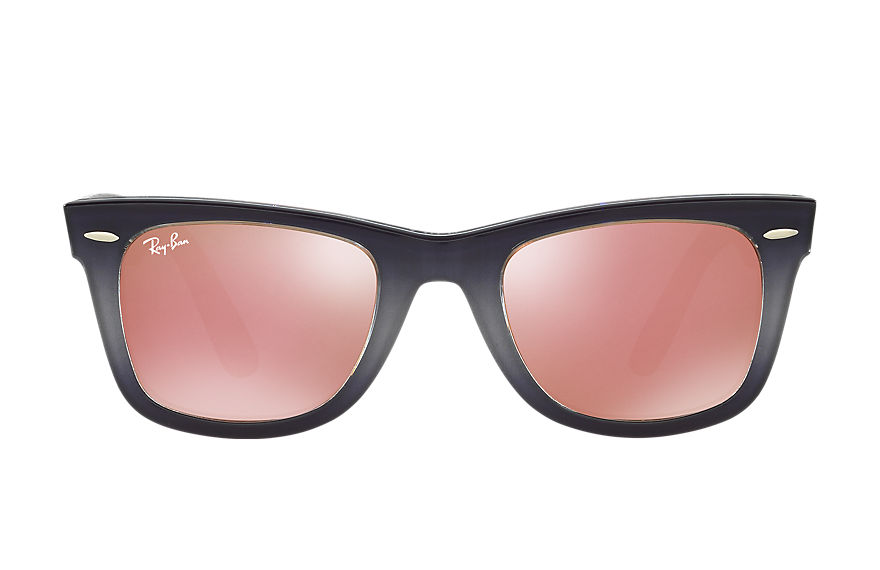 Ray-Ban ORIGINAL WAYFARER PIXEL Gris con lente Cobre Flash