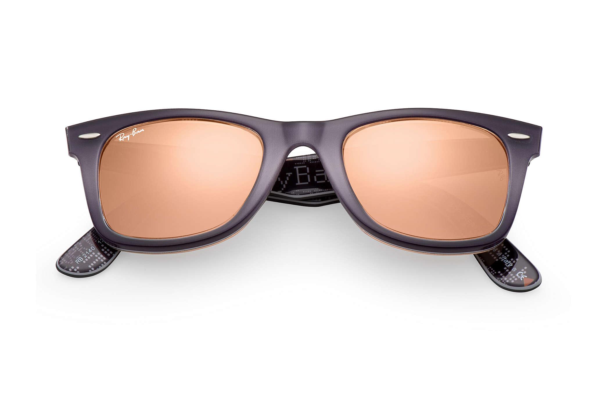 ... Ray-Ban 0RB2140-ORIGINAL WAYFARER PIXEL Gris,Multicolor   Noir,Multicolor SUN ... 479a81ed4557