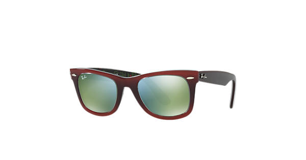 52fd426058 Ray-Ban Original Wayfarer Pixel RB2140 Red - Acetate - Green Lenses -  0RB214012022X50