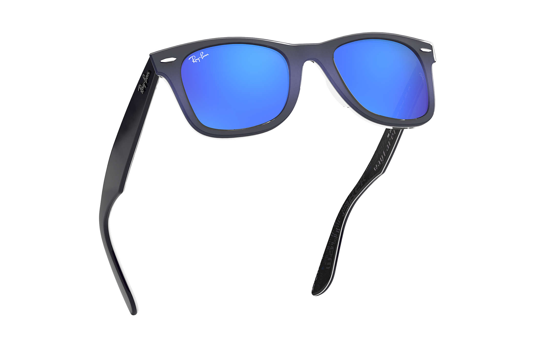 ray ban wayfarer braun blau