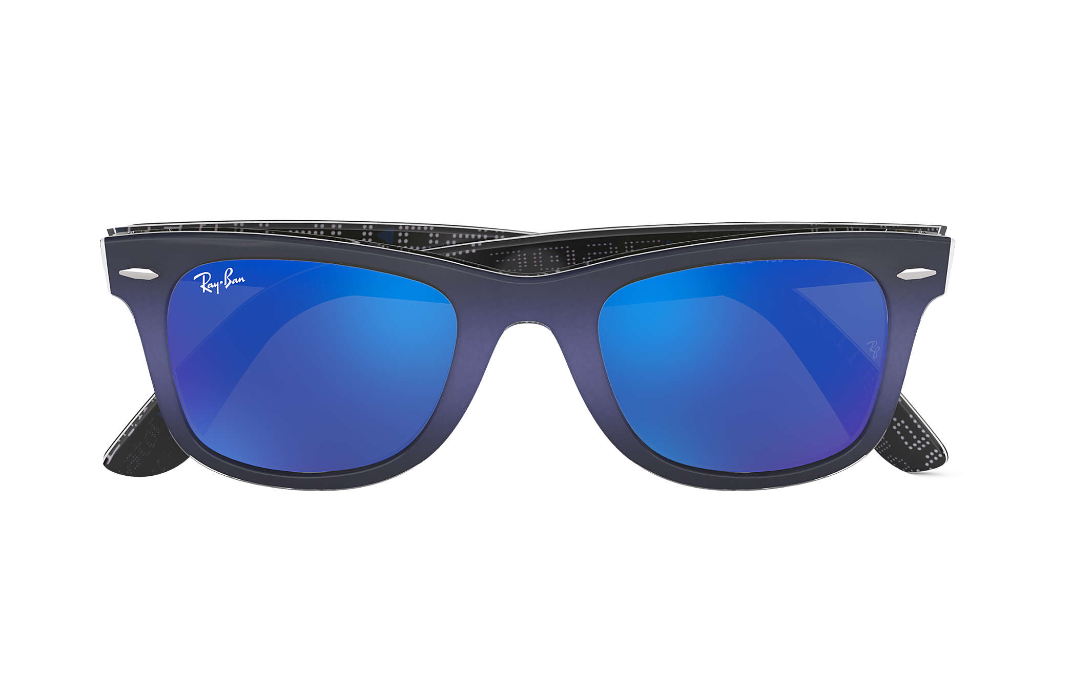 Ray-Ban Original Wayfarer Pixel RB2140 Blue - Acetate - Blue Lenses ... 942d5bc7aac98