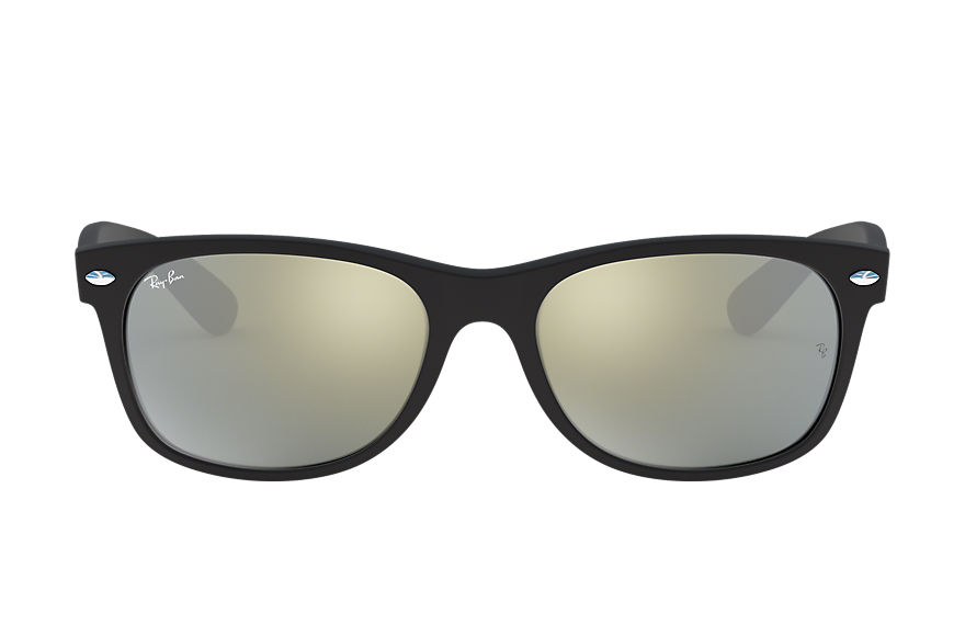 Ray-Ban Sunglasses NEW WAYFARER FLASH Black with Silver Flash lens