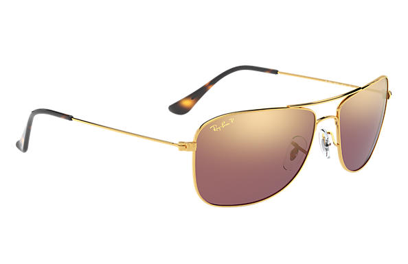 aee4e3b032 Ray-Ban Rb3543 Chromance RB3543 Gold - Metal - Purple Polarized ...