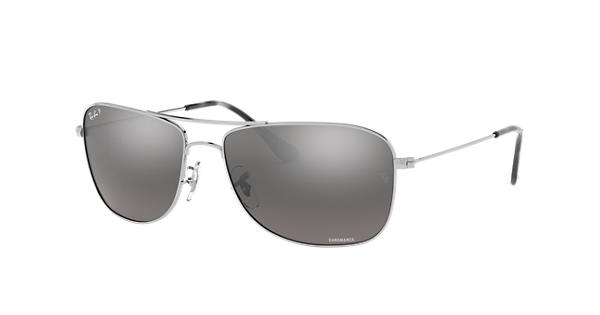 0ad0ac0faa3 Ray-Ban Rb3543 Chromance RB3543 Silver - Metal - Silver Polarized Lenses -  0RB3543003 5J59