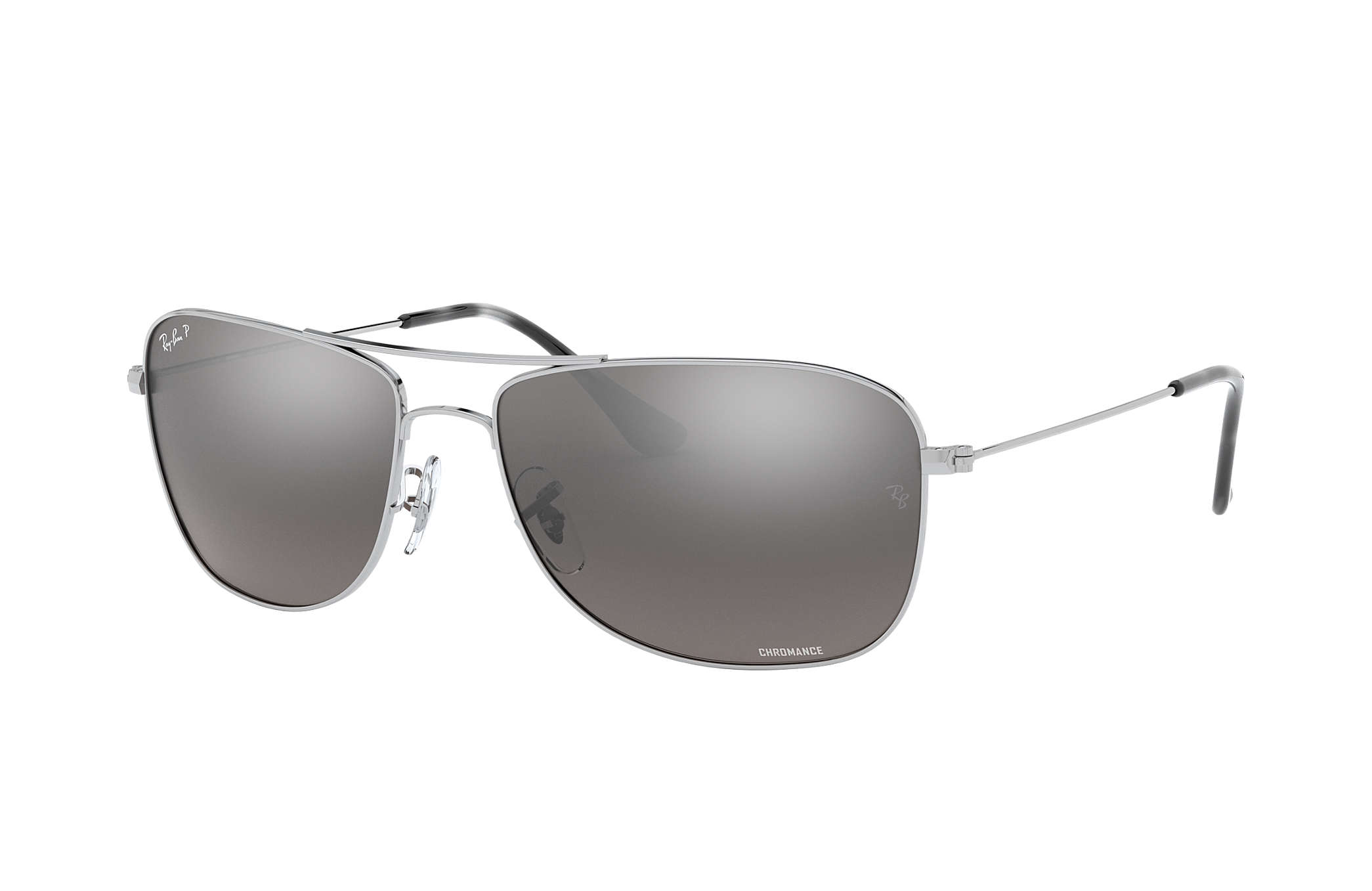 c91d3d4f8336d Ray-Ban Rb3543 Chromance RB3543 Silver - Metal - Silver Polarized ...