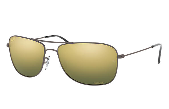 86c80a39abd Ray-Ban Rb3543 Chromance RB3543 Gunmetal - Metal - Green Polarized ...