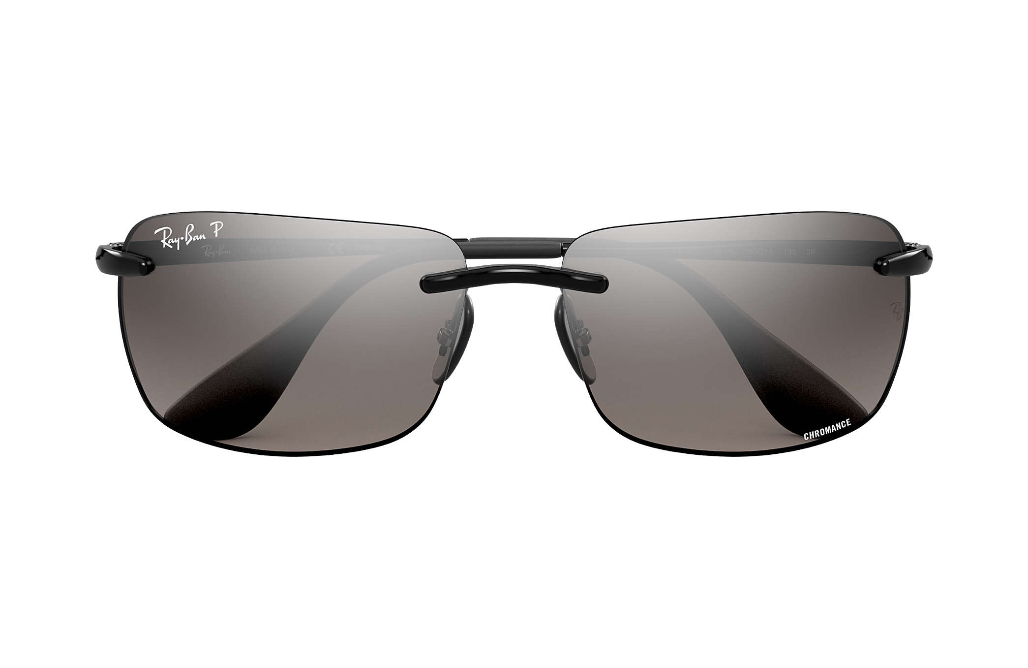 6287bd997d Ray-Ban Rb4255 Chromance RB4255 Black - Injected - Silver Polarized ...