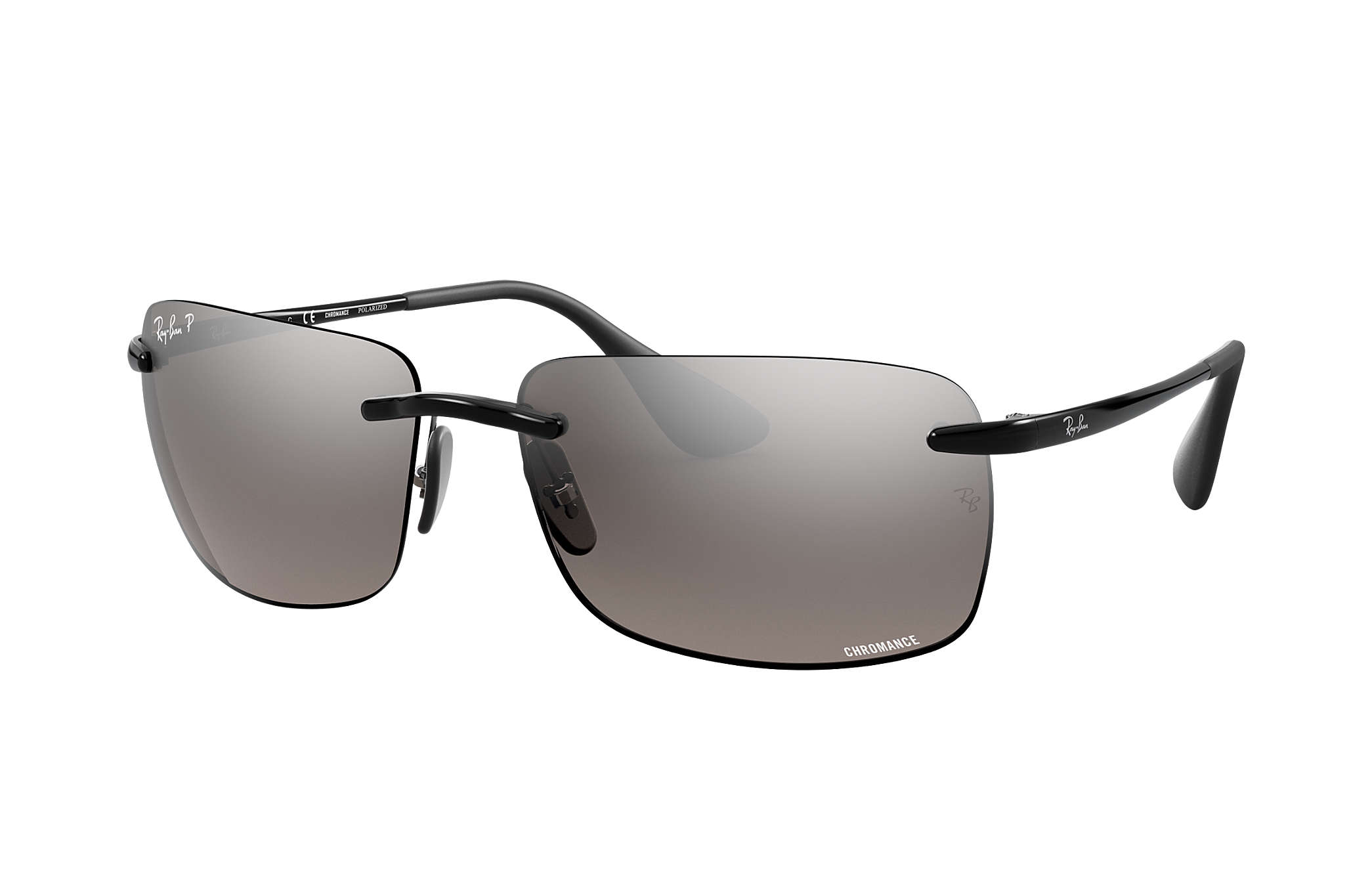 0c9afd8c8e Ray-Ban Rb4255 Chromance RB4255 Black - Injected - Silver Polarized ...