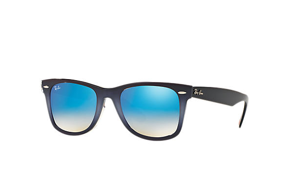 Ray-Ban Sunglasses ORIGINAL WAYFARER FLORAL Grey with Blue Gradient Flash lens