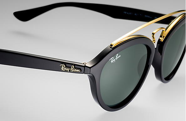 d5d0942d32648 Ray-Ban Rb4257 Gatsby Ii RB4257 Black - Propionate - Green Lenses ...