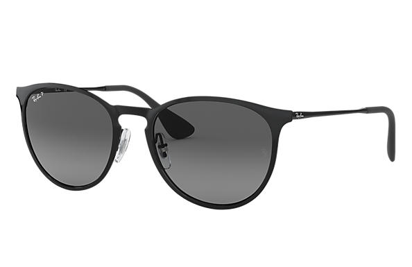 Ray-Ban Sunglasses ERIKA METAL Polished Black with Grey Gradient lens