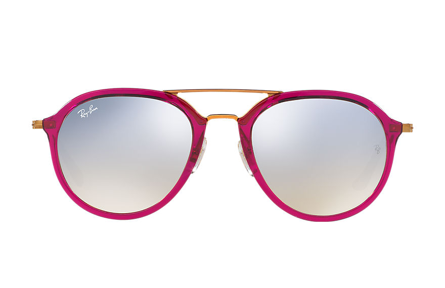 Ray-Ban Sunglasses RB4253 Purple-Reddish with Silver Gradient Flash lens