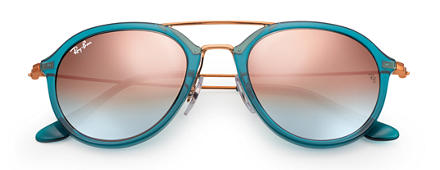 Ray-Ban RB4253 Blue with Copper Gradient Flash lens