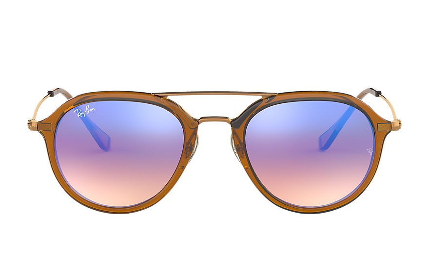Ray-Ban Sunglasses RB4253 Brown with Blue Gradient Flash lens