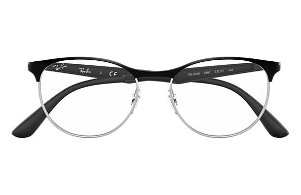 5f86b1317f9 Ray-Ban prescription glasses RB6365 Black - Metal - 0RX6365286151 ...