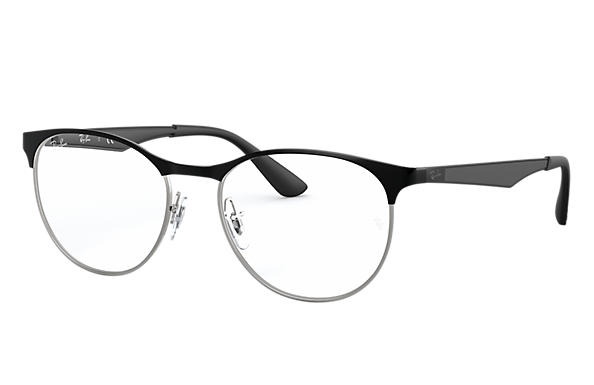 Ray-Ban 0RX6365-RB6365 Black,Silver; Black OPTICAL