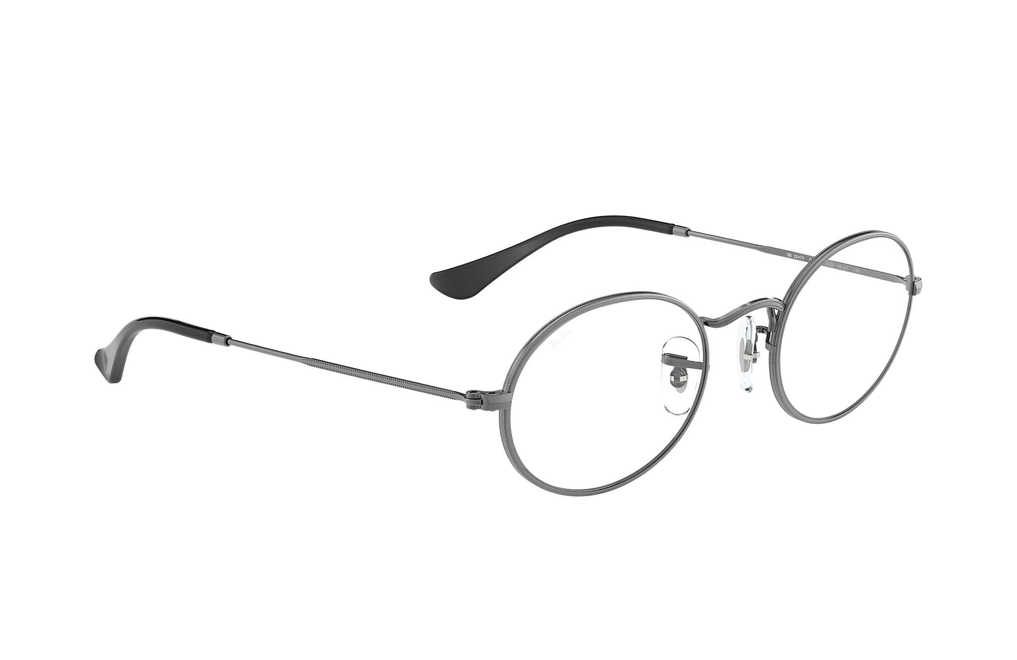 Ray-Ban prescription glasses Oval Optics RB3547V Gunmetal - Metal ...