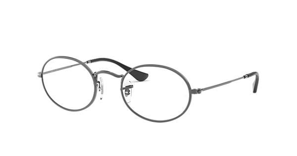 Ray-Ban prescription glasses Oval Optics RB3547V Gunmetal - Metal -  0RX3547V250248   Ray-Ban® USA b27db057516c