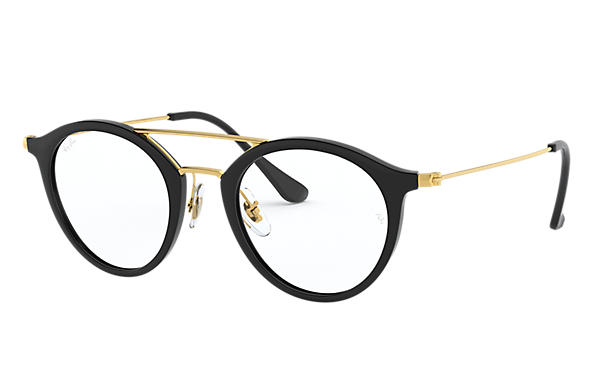 Ray-Ban 0RX7097-RB7097 Black; Gold OPTICAL