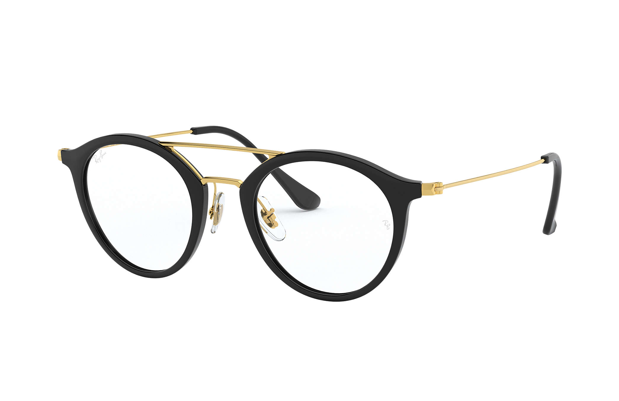 1b43d82ee2 Ray-Ban 0RX7097-RB7097 Black Gold OPTICAL ...
