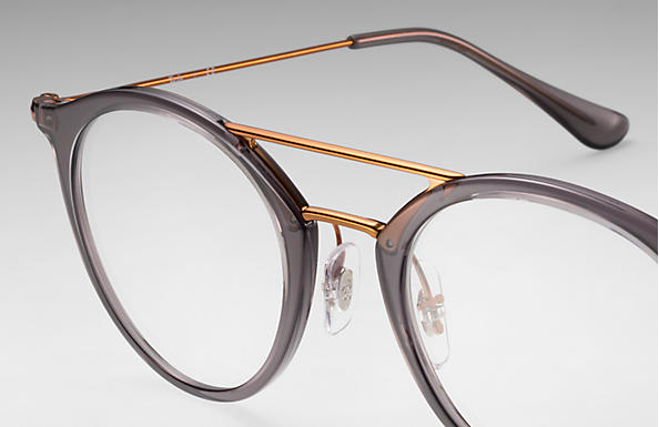6e93d190ab Ray-Ban prescription glasses RB7097 Grey - Injected - 0RX7097563347 ...