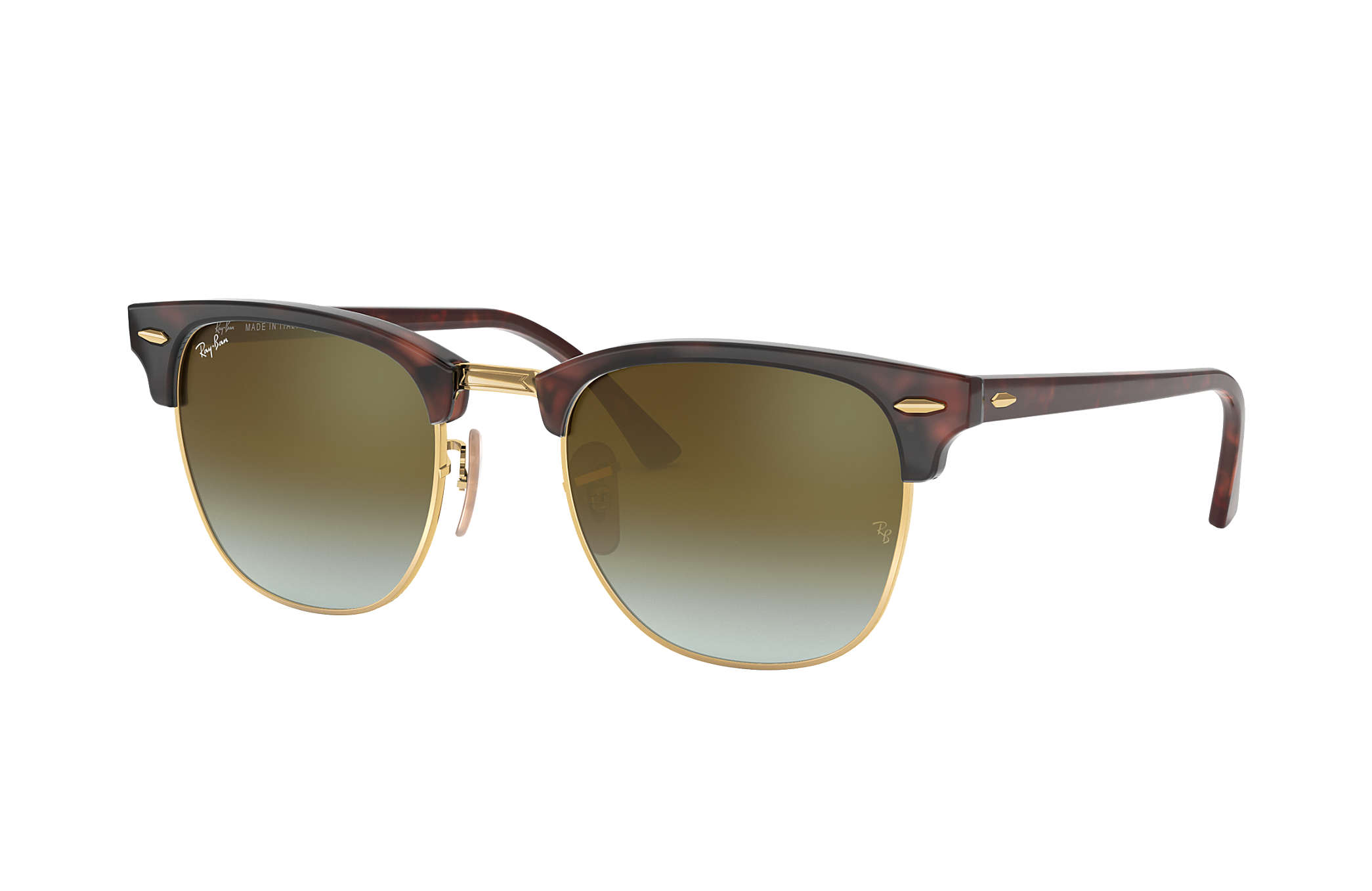Ray-Ban Clubmaster Flash Lenses Gradient RB3016 Tortoise - Acetate ... bbeed3540e