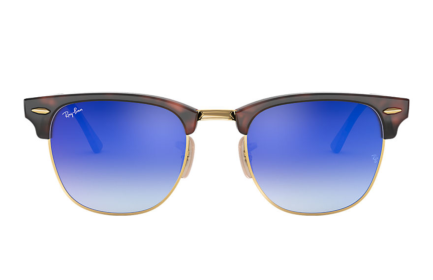 Ray-Ban CLUBMASTER FLASH LENSES GRADIENT Tortoise with Blue Gradient Flash lens