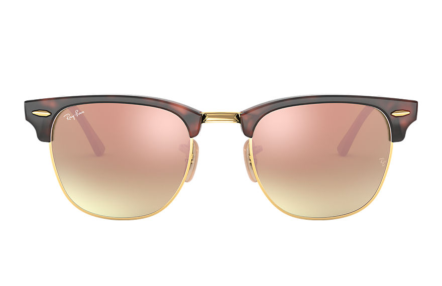 Ray-Ban  occhiali da sole RB3016 UNISEX 003 clubmaster flash lenses gradient tartaruga 8053672603880