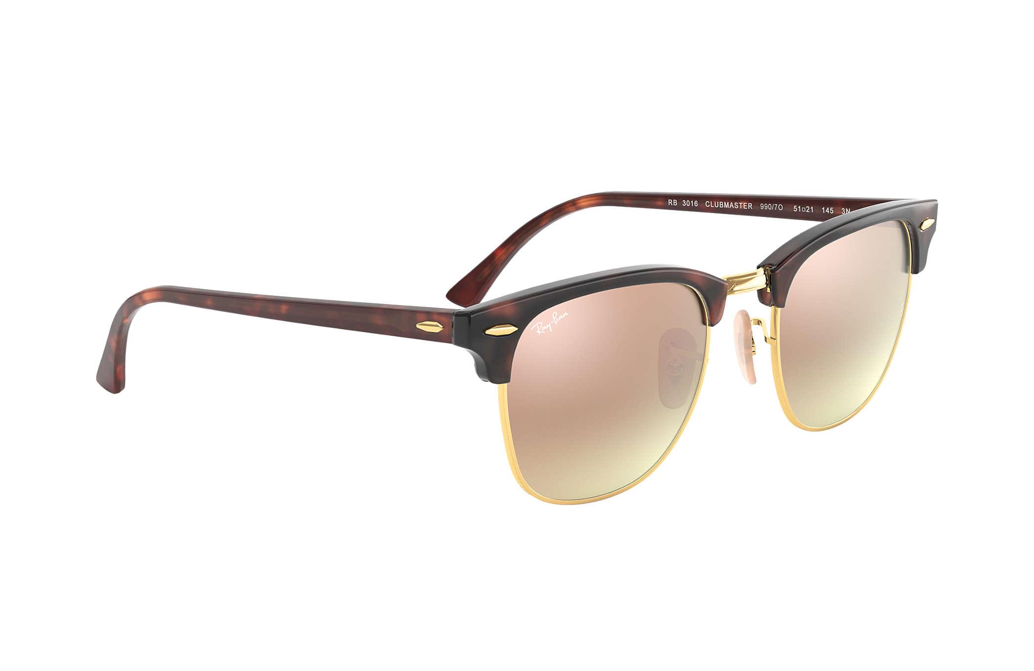 5c12e11d08 ... switzerland ray ban 0rb3016 clubmaster flash lenses gradient  tortoisegold tortoise sun aede2 9d515
