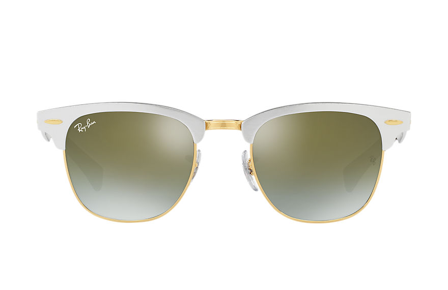 Ray-Ban  sunglasses RB3507 UNISEX 002 clubmaster aluminum flash lenses gradient silver 8053672603903