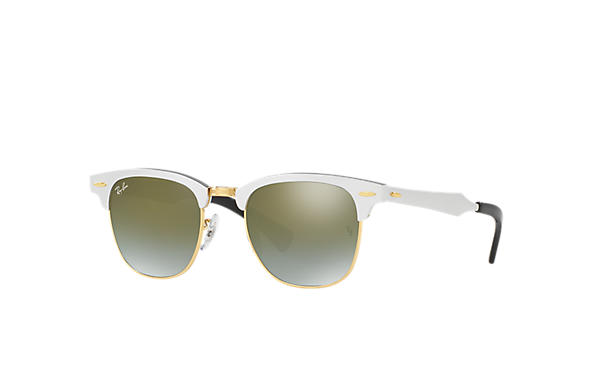 Ray-Ban 0RB3507-CLUBMASTER ALUMINUM FLASH LENSES GRADIENT Prata SUN