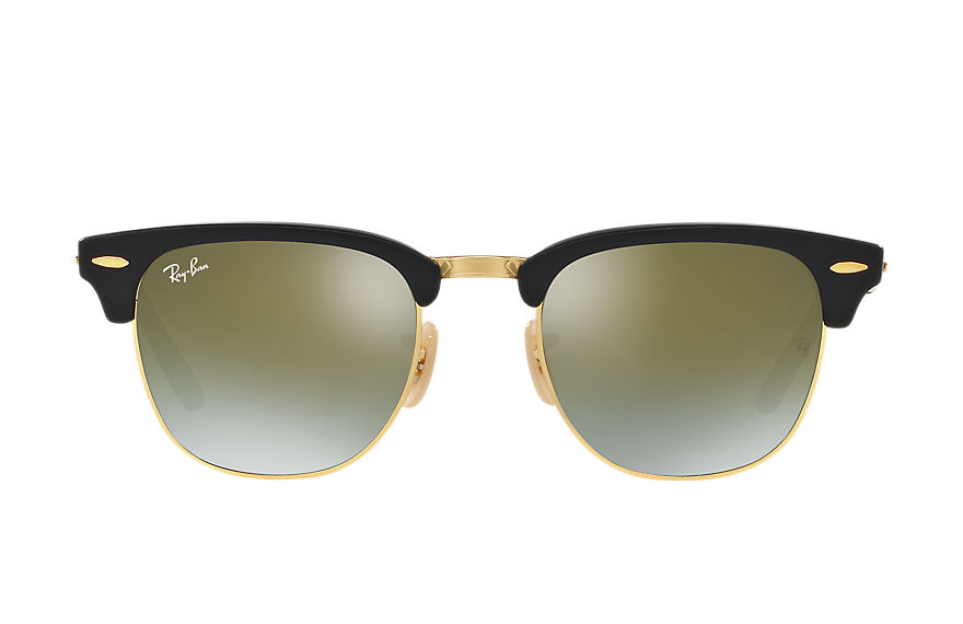 Ray-Ban Sunglasses CLUBMASTER FOLDING FLASH LENSES GRADIENT Black with Green Gradient Flash lens
