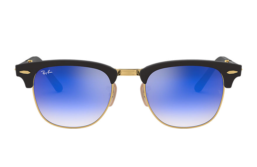 Ray-Ban Gafas-de-sol CLUBMASTER FOLDING FLASH LENSES GRADIENT Negro con lente Azul Flash degradado