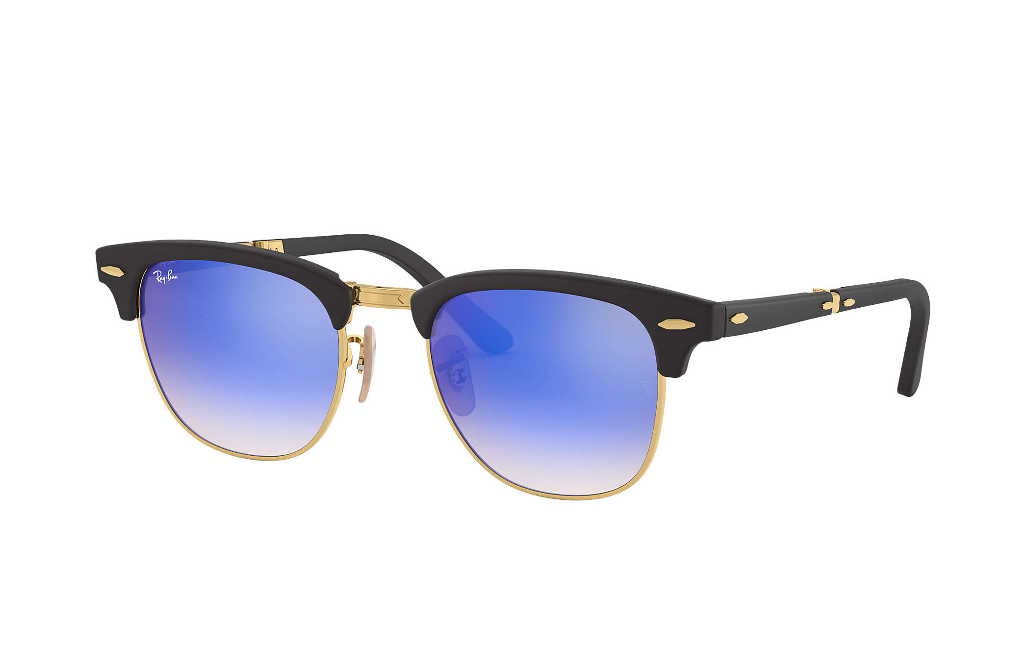 46578902ec Ray-Ban 0RB2176-CLUBMASTER FOLDING FLASH LENSES GRADIENT Black  Gold SUN ...