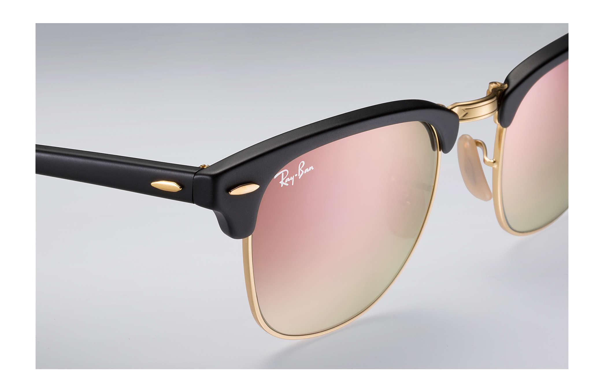 0291a8ed65 ... Ray-Ban 0RB2176-CLUBMASTER FOLDING FLASH LENSES GRADIENT Black  Gold  SUN ...