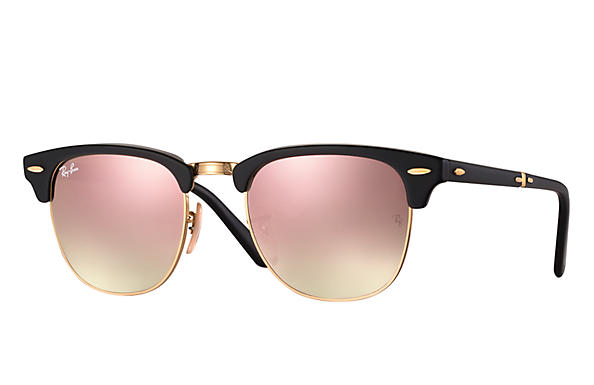 16cb14276497 ... switzerland ray ban 0rb2176 clubmaster folding flash lenses gradient  black gold sun f6f19 a4411