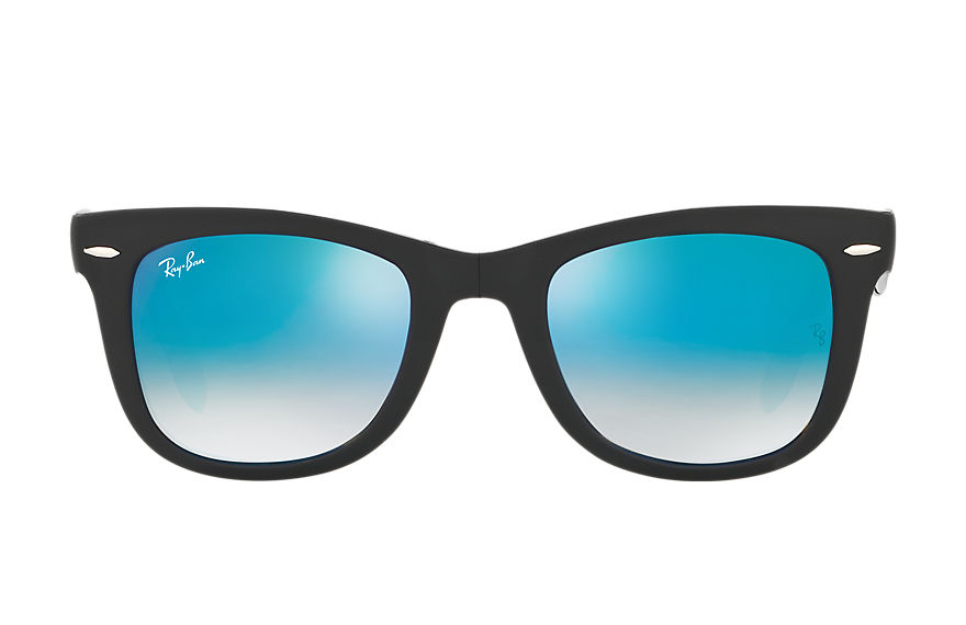 Ray-Ban WAYFARER PIEGHEVOLI CON LENTI FLASH Nero con lente Blu Gradient Flash