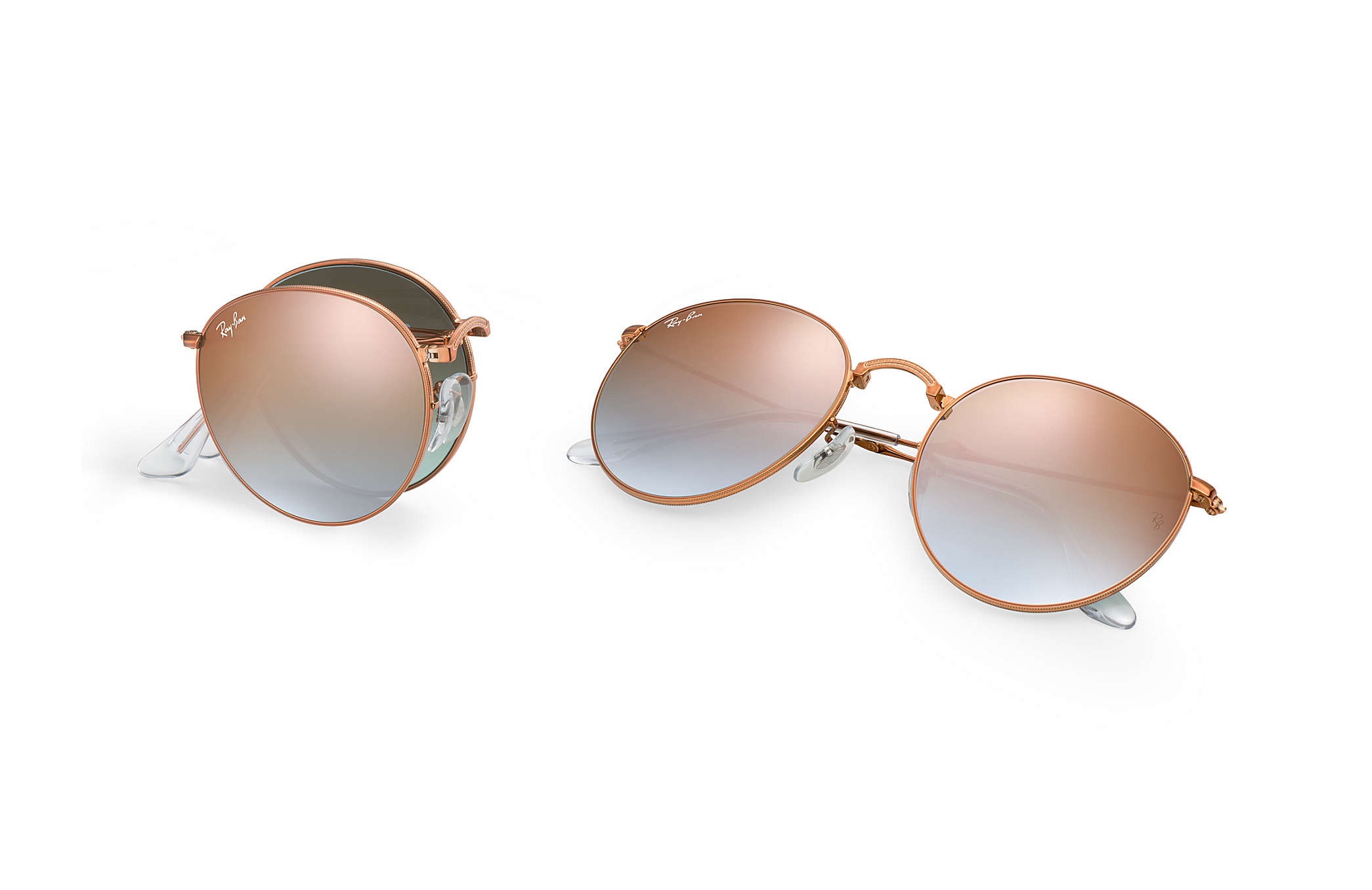 09ad025a8c Ray-Ban Round Metal Folding RB3532 Bronze-Copper - Metal - Copper ...
