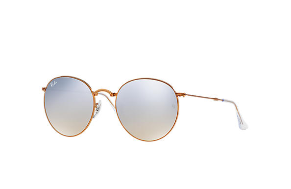 2487976f26 Ray-Ban Round Metal Folding RB3532 Bronze-Copper - Metal - Silver ...