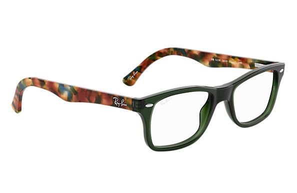 da02ffe0204 Ray-Ban prescription glasses RB5228 Green - Acetate - 0RX5228563053 ...
