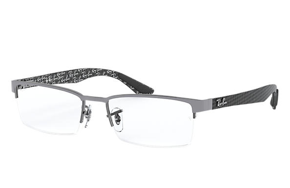 Ray-Ban 0RX8412-RB8412 Grau,Gunmetal; Grau,Silber OPTICAL