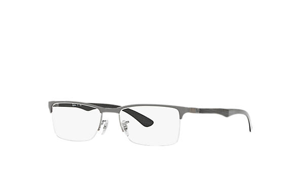 Ray-Ban 0RX8413-RB8413 Gris,Gun; Noir OPTICAL