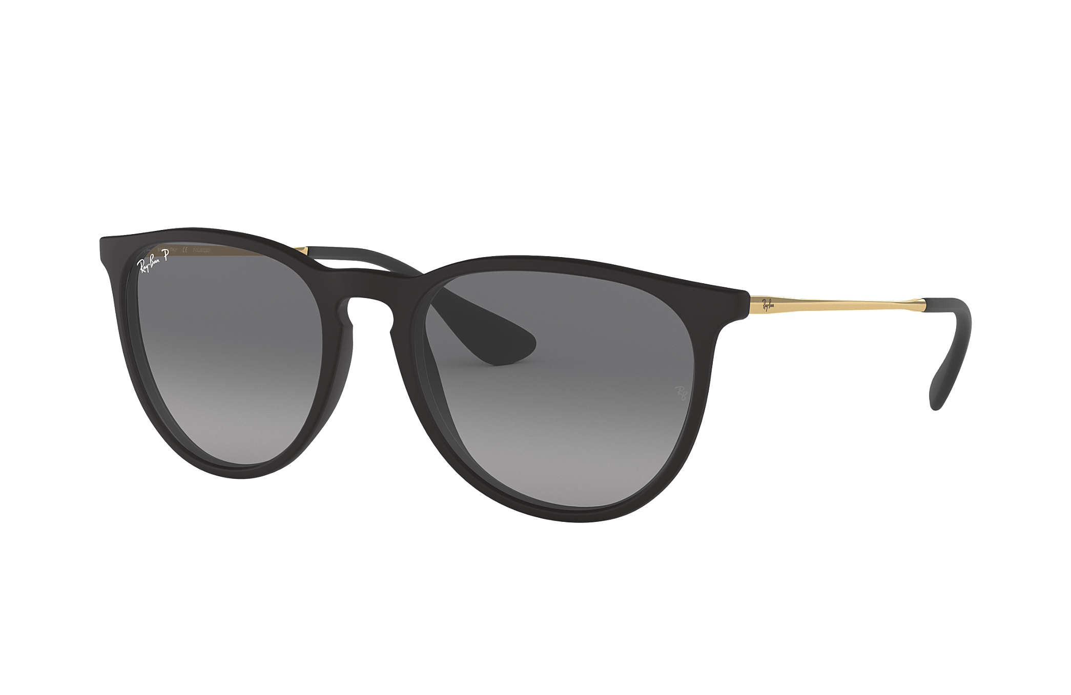 Ray-Ban Erika @collection Schwarz Gold, Polarisierte Gläser - RB4171 ...