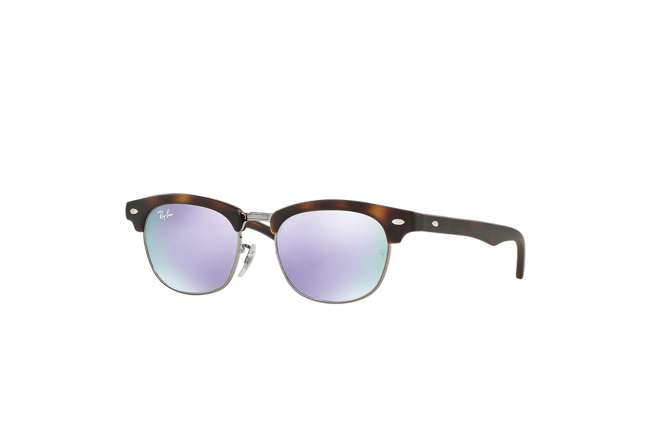 f6fa63e2581f9 Ray-Ban Clubmaster Junior RB9050S Tortoise - Nylon - Lilac Lenses ...